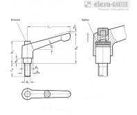 Регулируемые ручки рычажного типа GN 303.1 – Чертеж 1