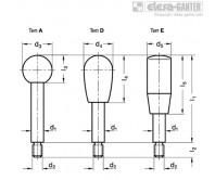 Рукоятка рычага переключения передач GN 310 - NI – Чертеж 1