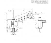 Рычаги с функцией защиты GN 312 – Чертеж 1