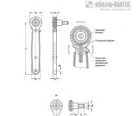Нержавеющая сталь – гаечные ключи с трещоткой GN 318 – Чертеж 1