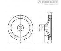 Дисковые маховики GN 321-A – Чертеж 1