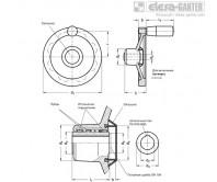 Предохранительные маховики GN 321.6-D – Чертеж 1