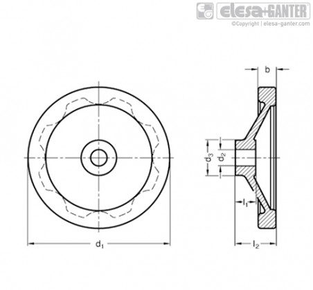 Дисковые маховики GN 323-A – Чертеж 1
