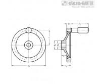 Дисковые маховики GN 323-R – Чертеж 1