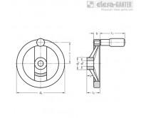 Маховик со спицами GN 324-R – Чертеж 1