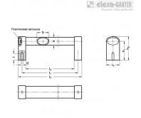 Овальные трубчатые ручки GN 334-EL – Чертеж 1