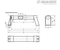 Овальные трубчатые ручки GN 334.1-EL – Чертеж 1