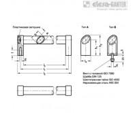 Овальные трубчатые ручки GN 335-EL – Чертеж 1