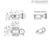 Штифты стопорные (фиксаторы) GN 417 – Чертеж 1