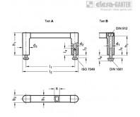Стоечные ручки GN 423-ELG – Чертеж 1