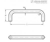 П-образные ручки для ящиков и шкафов GN 425.3 – Чертеж 1