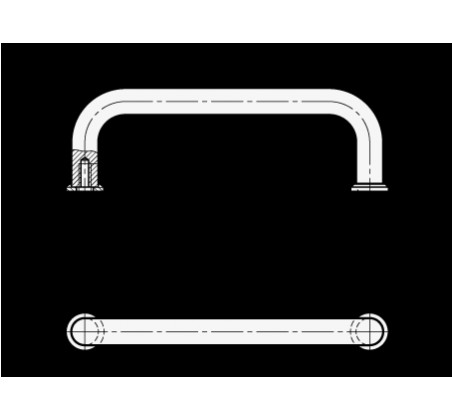 П-образные ручки для ящиков и шкафов GN 425 – Чертеж 1