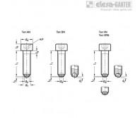 Винты с шаровым наконечником GN 606-NI – Чертеж 1