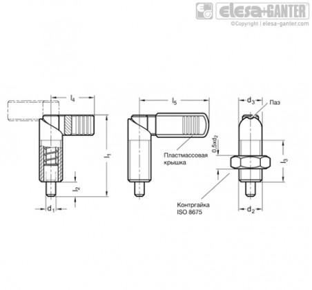 Рычажные фиксаторы с кулачковым механизмом GN 612-NI – Чертеж 1