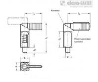 Рычажные фиксаторы с кулачковым механизмом GN 612.3 – Чертеж 1