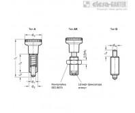 Штифты стопорные (фиксаторы) GN 613-NI (Stainless Steel with Plastic knob) – Чертеж 1