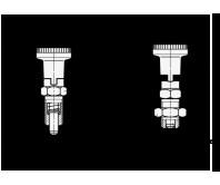 Штифты стопорные (фиксаторы) GN 617.1 (Steel with Plastic knob) – Чертеж 1