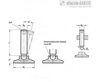 Шарнирные регулируемые опоры GN 638-ST – Чертеж 1