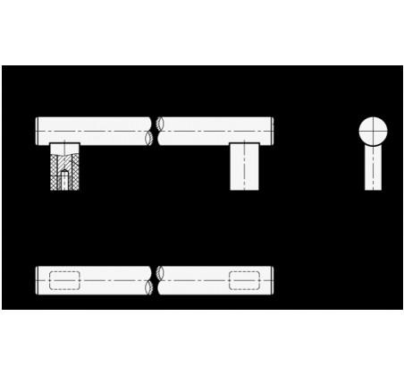 Трубчатые ручки GN 666-NG – Чертеж 1