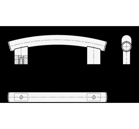 Трубчатые ручки арочного типа GN 666.4-EL – Чертеж 1