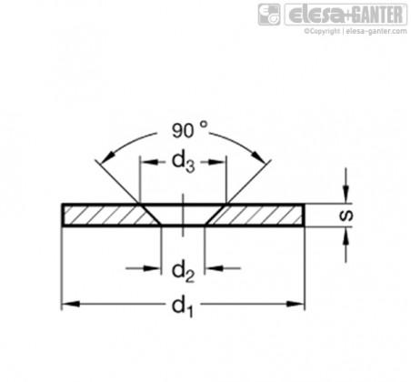 Ответные диски GN 70-NI – Чертеж 1