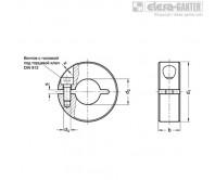 Полуразрезные установочные кольца GN 706.2-NI – Чертеж 1