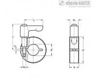 Полуразрезные установочные кольца GN 706.4-NI – Чертеж 1