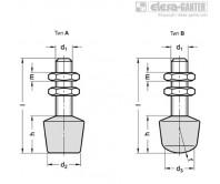 Шпиндельный узел с шарнирным зажимом GN 708.1 – Чертеж 1