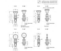 Штифты стопорные (фиксаторы) GN 717 – Чертеж 1