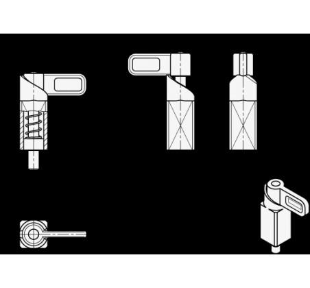 Пружинные защёлки GN 722.1-A4 – Чертеж 1