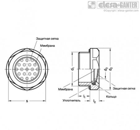 Двусторонние воздухопроницаемые мембраны GN 7404-AL – Чертеж 2