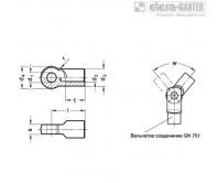 Соединительные детали GN 752-NI – Чертеж 1