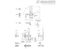 Вертикальные прижимы GN 810.1 – Чертеж 1