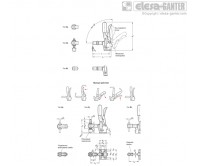 Вертикальные прижимы GN 810.3 – Чертеж 1