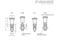 Штифты стопорные (фиксаторы) GN 817.2-NI – Чертеж 1