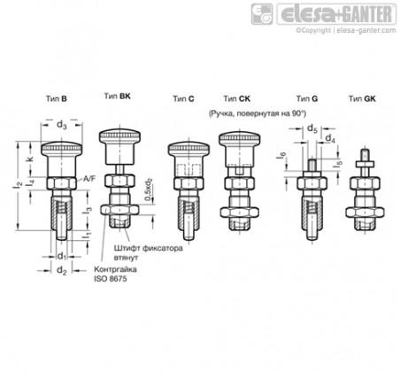 Штифты стопорные (фиксаторы) GN 817 – Чертеж 1