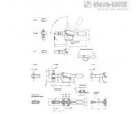 Горизонтальные шарнирные зажимы GN 820-NI – Чертеж 1