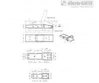 Замки натяжные с крюком GN 8330 – Чертеж 1