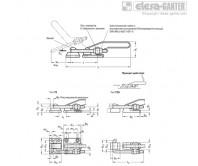 Шарнирно-рычажные зажимы GN 852-NI – Чертеж 1