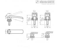 Прижимные ручки с эксцентриковым кулачком из нержавеющей стали GN 927.5 – Чертеж 1