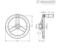 Маховики из нержавеющей стали GN 949-D – Чертеж 1