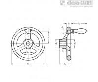 Маховики со спицами GN 950.1-D – Чертеж 1