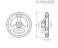 Маховики со спицами из нержавеющей стали GN 950.6-A – Чертеж 1