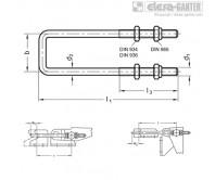 Натяжные задвижки GN 951.1-NI – Чертеж 2