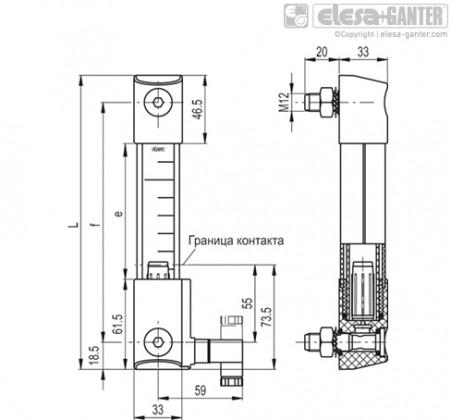 Столбиковые индикаторы уровня HCK-E-STL – Чертеж 1