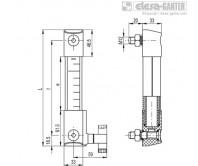 Столбиковые индикаторы уровня HCK-STL – Чертеж 1