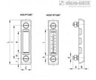 Столбиковые индикаторы уровня HCX-PT-SST – Чертеж 1