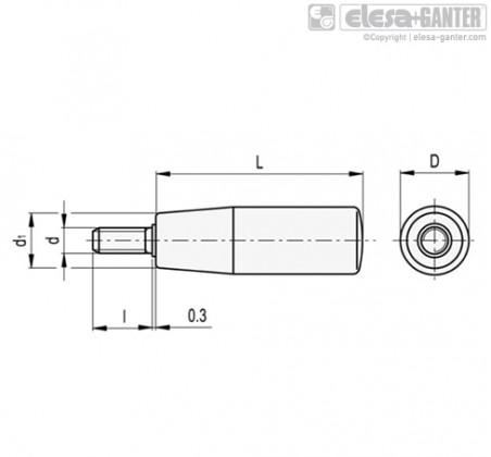 Цилиндрические ручки I.280-p – Чертеж 1