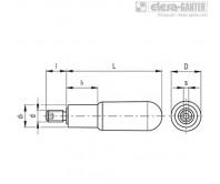 Вращающиеся ручки I.621+x-SST – Чертеж 1