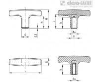 Т-образные ручки L.652-B – фото 1